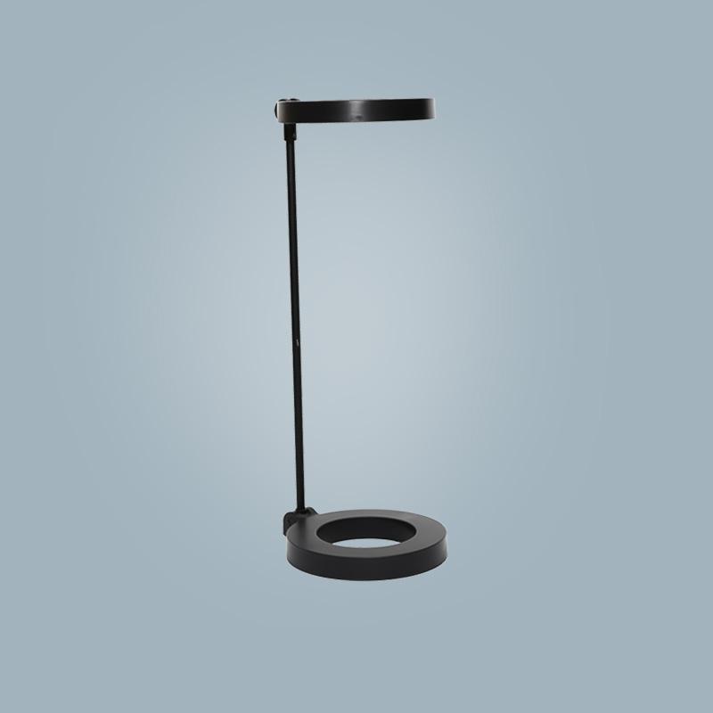 Tischlampe (rund schwarz)