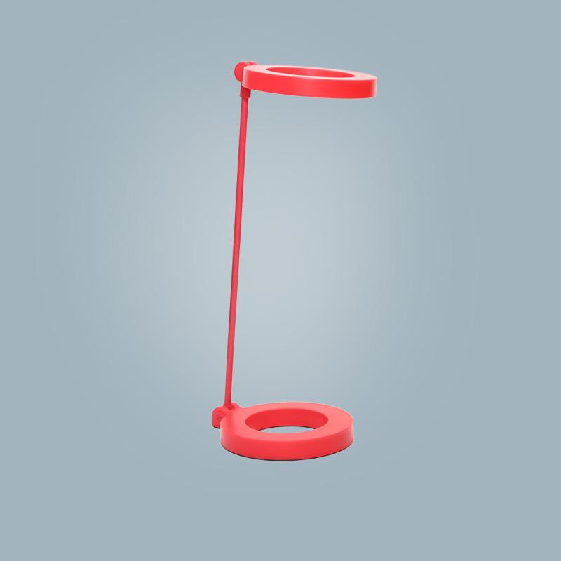 Tischlampe (rund rot)