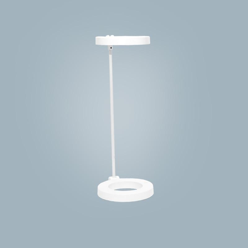 Tischlampe (rund weiß)