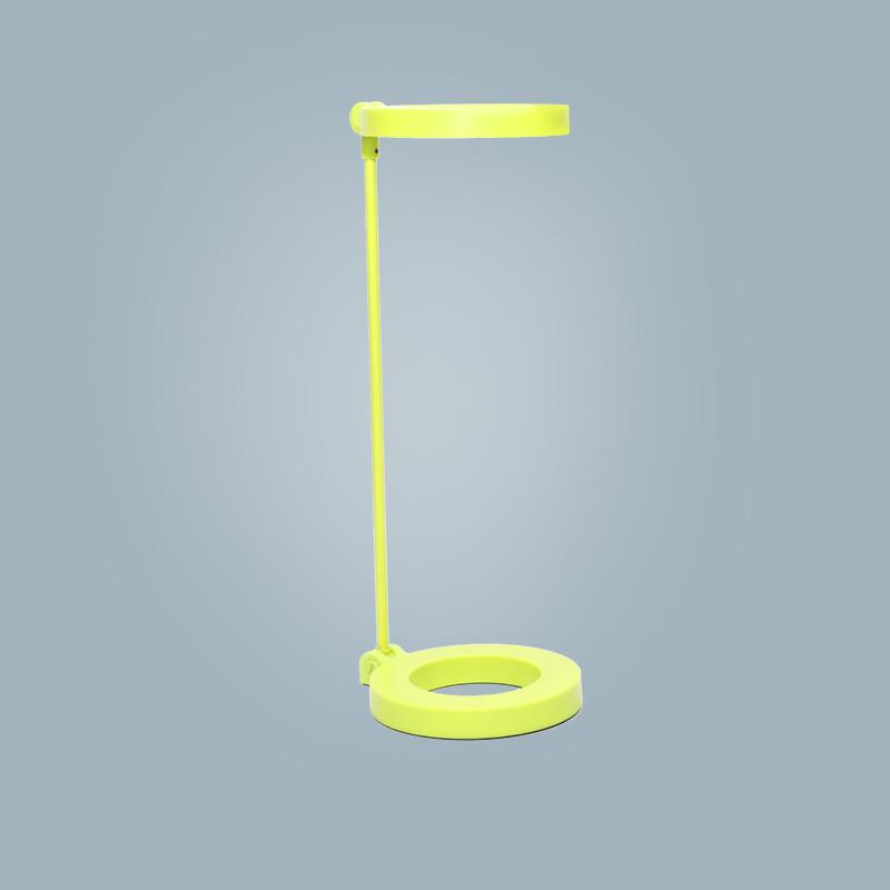 Tischlampe (rund gelb)